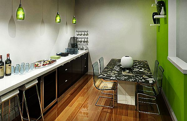 Дизайн вытянутой прямоугольной кухни