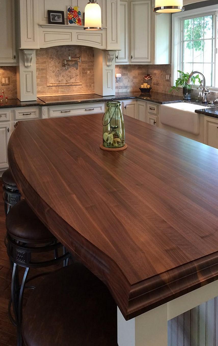 Столешницу из дерева на кухню по размеру