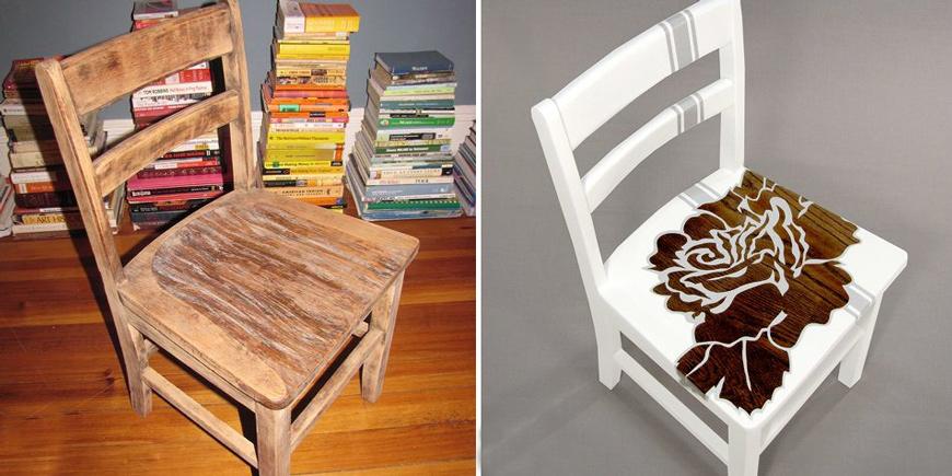 Как покрасить стул своими руками до и