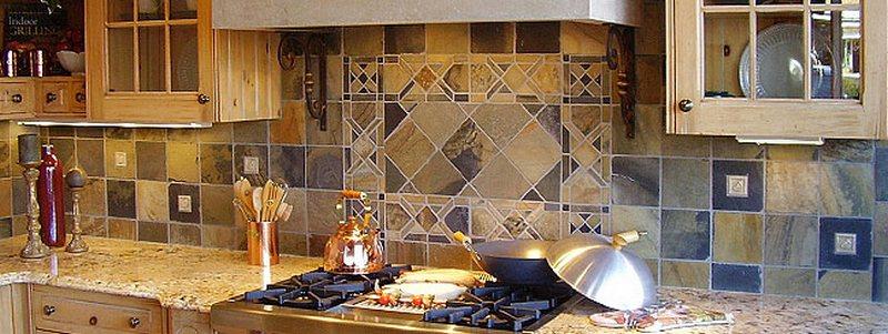 кухонный фартук из плитки-12