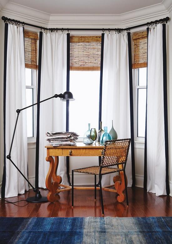 шторы для эркера в гостинной-1