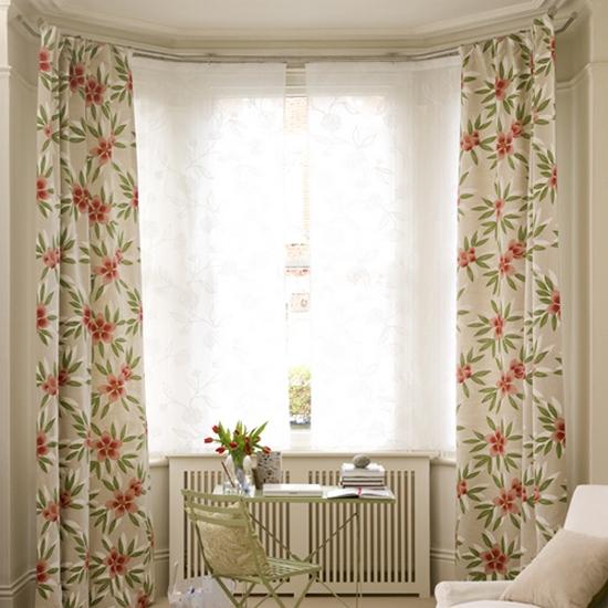 шторы для эркера в гостинной-2