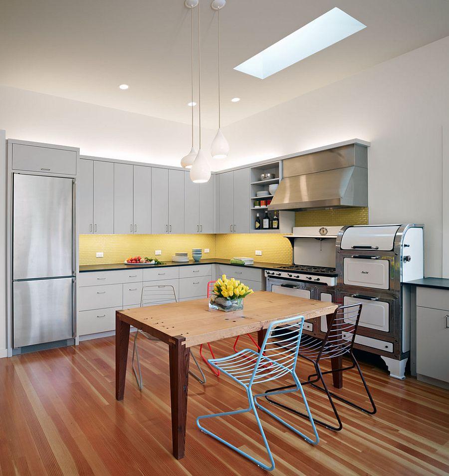 модные идеи серый желтый цвет кухни-1