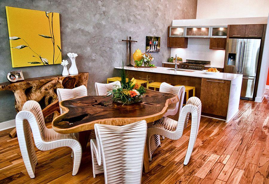 модные идеи серый желтый цвет кухни
