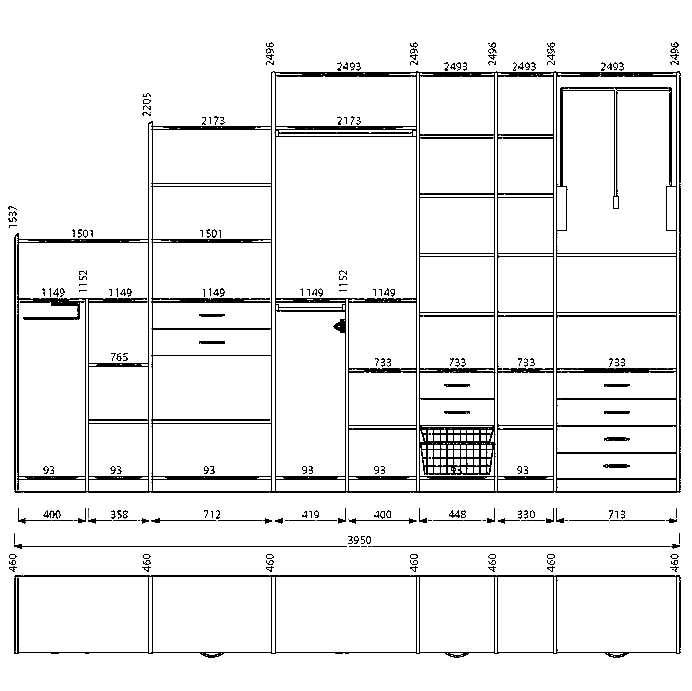 схема дизайна шкаф купе