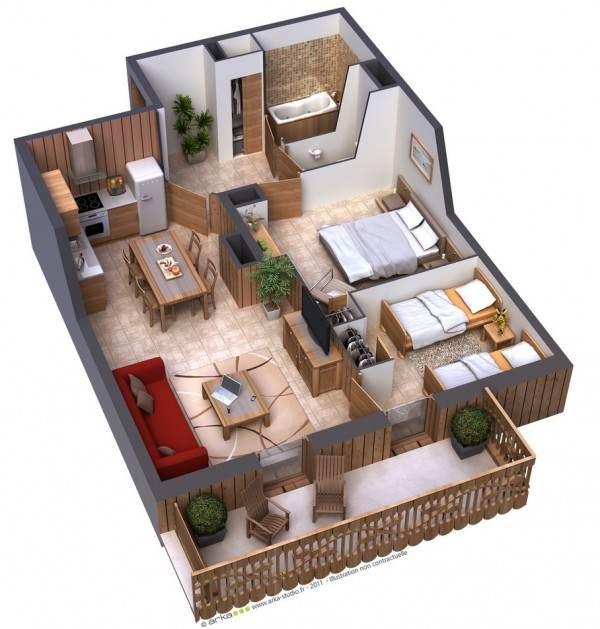 3d-проект квартира