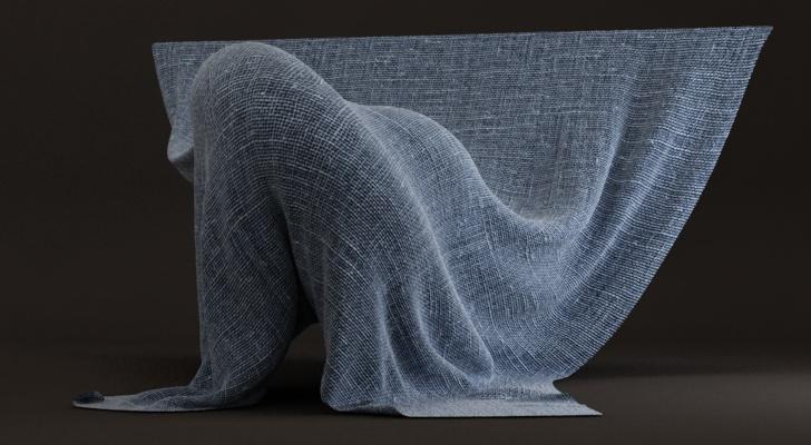 материал ткани vray
